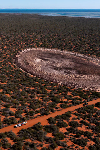 """A crater known as one of the 'Footsteps of our Creators"""" in Francois Peron National Park"""