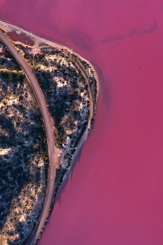 Hutt Lagoon viewpoint from above