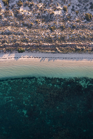 Top down of Coral Bay beach