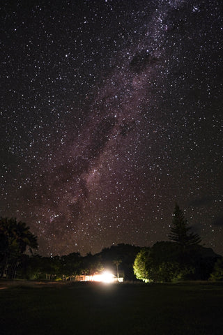 Stars and Milky Way above Lord Howe Accomodation