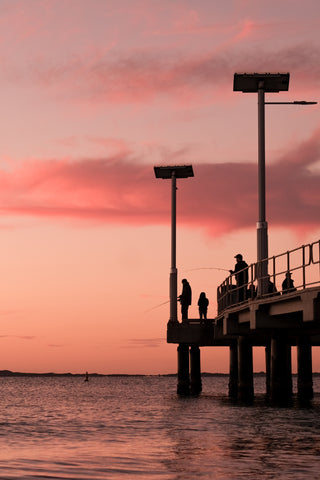 Sunset on the pier at Jurien Bay