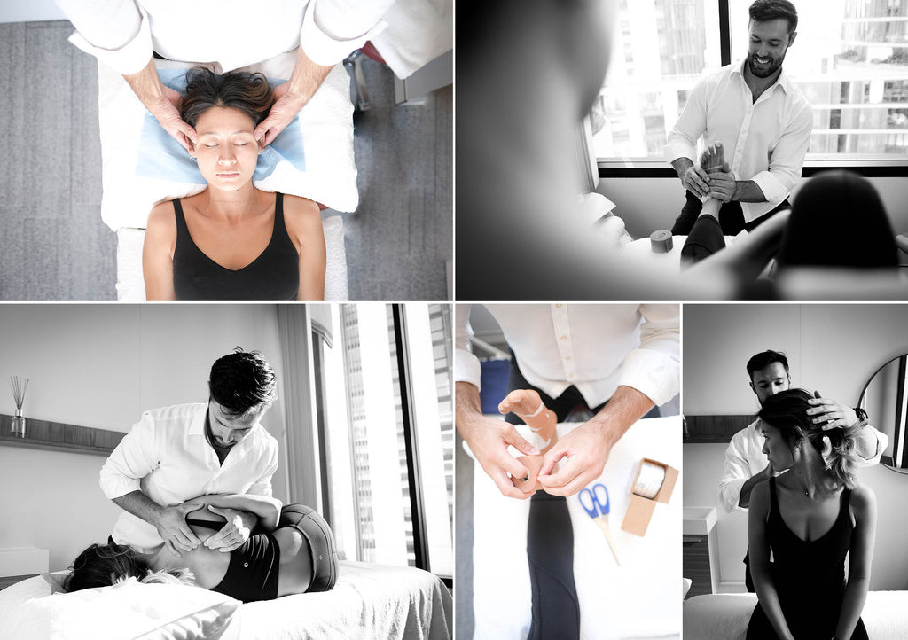 Collage of Osteopath at work
