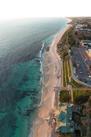 Vertical panoramic photo of Cottesloe Beach