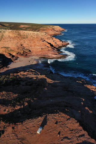Pot Alley in Kalbarri from above