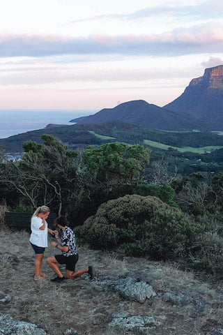The moment I proposed to Sadie at Malabar Lookout on Lord Howe Island