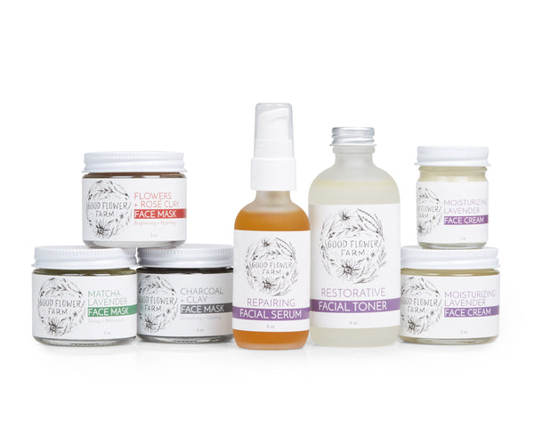 Good Flower Farm Wholesale Organic Skincare Products made in Tennessee