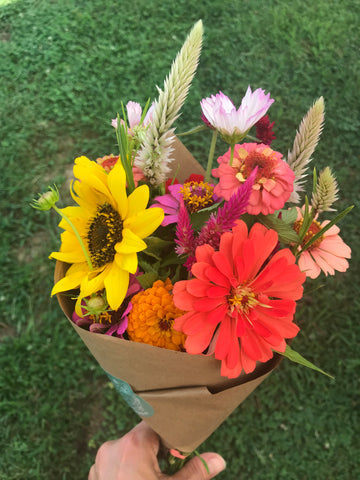 Organic Flower CSA Subscription Good Flower Farm in TN - Locally Grown Flower Bouquet