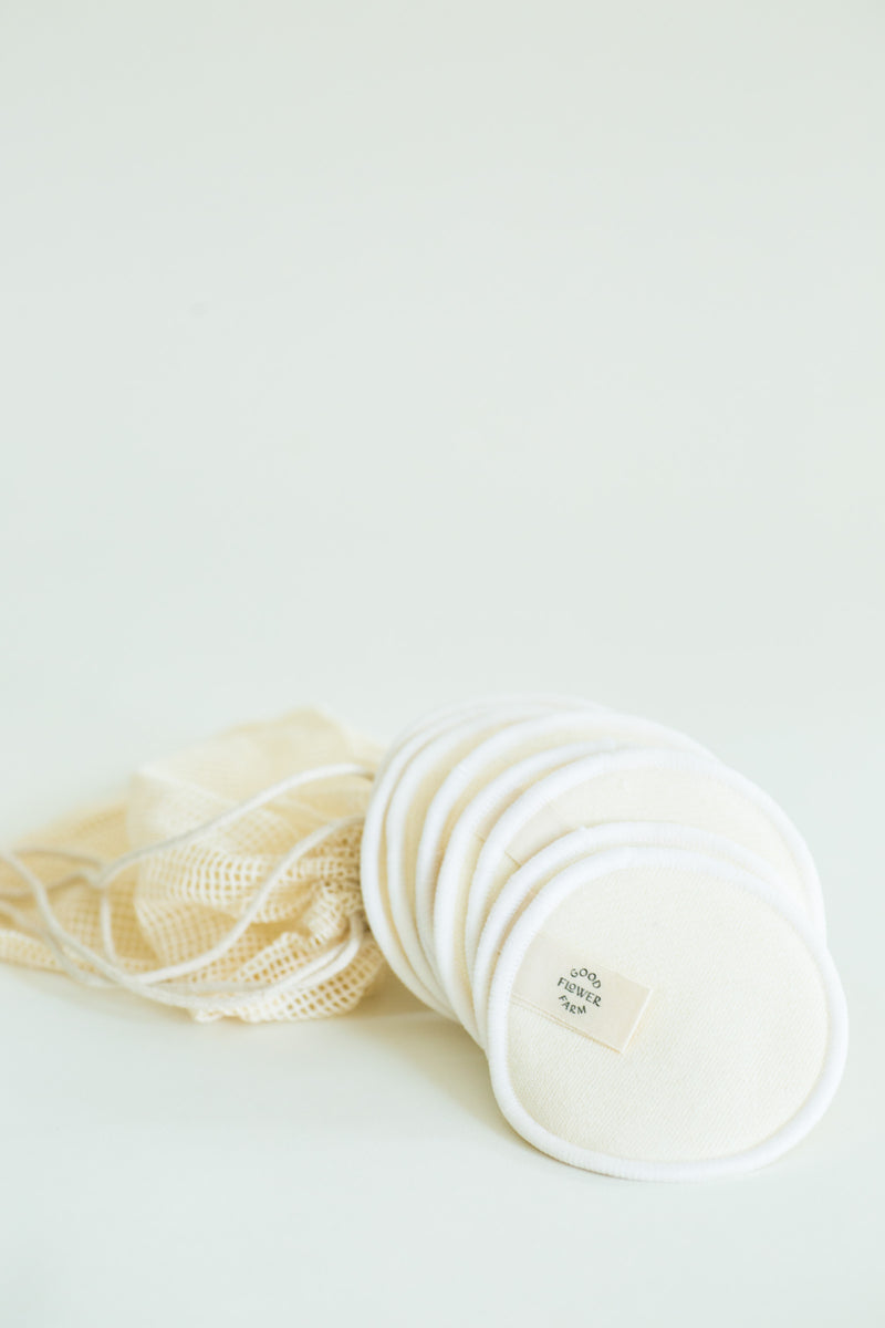 Reusable Organic Hemp & Cotton Rounds