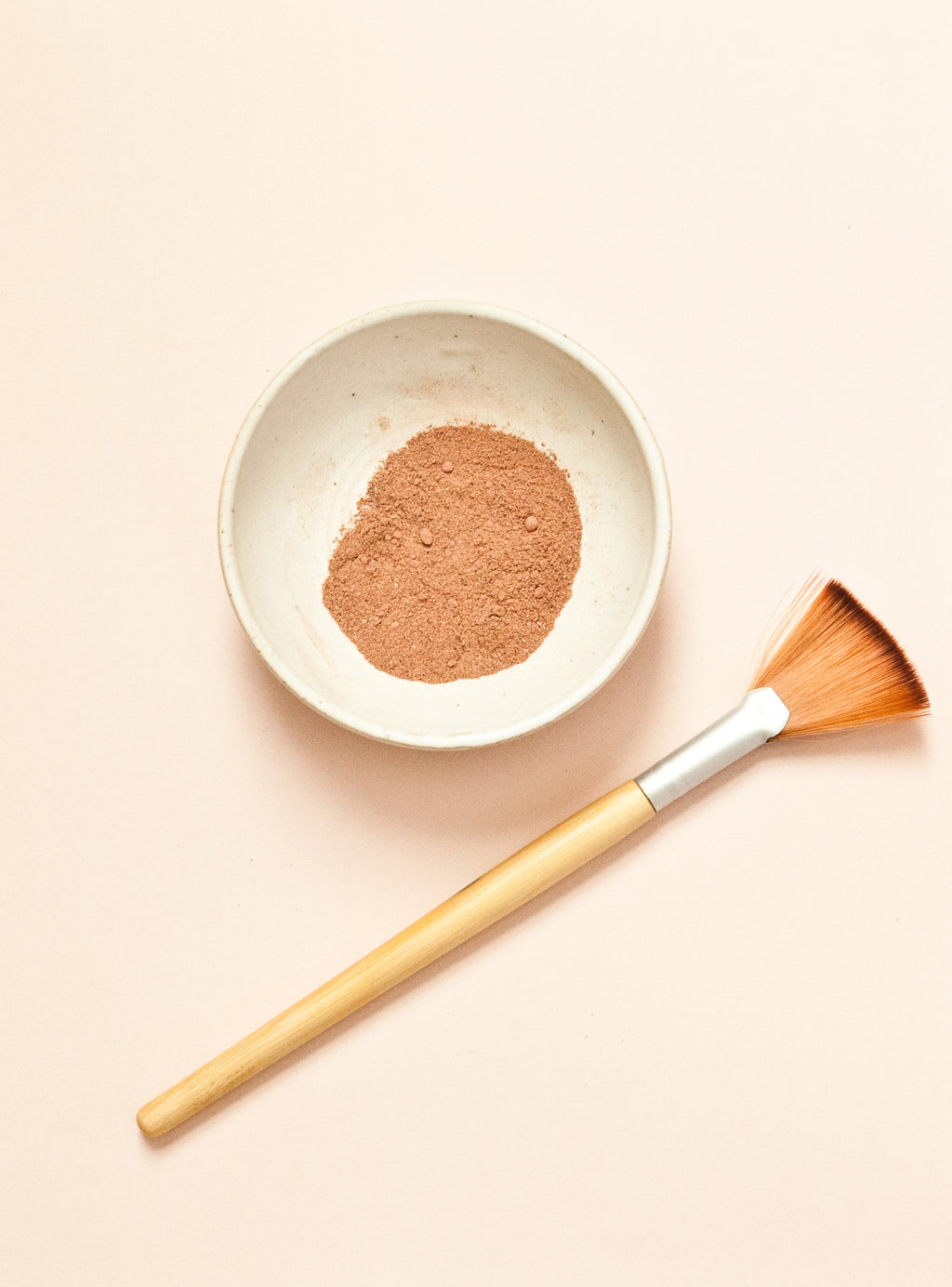 Handmade Pottery Face Mask Mixing Bowl + Eco-Friendly Mask Application Brush Set