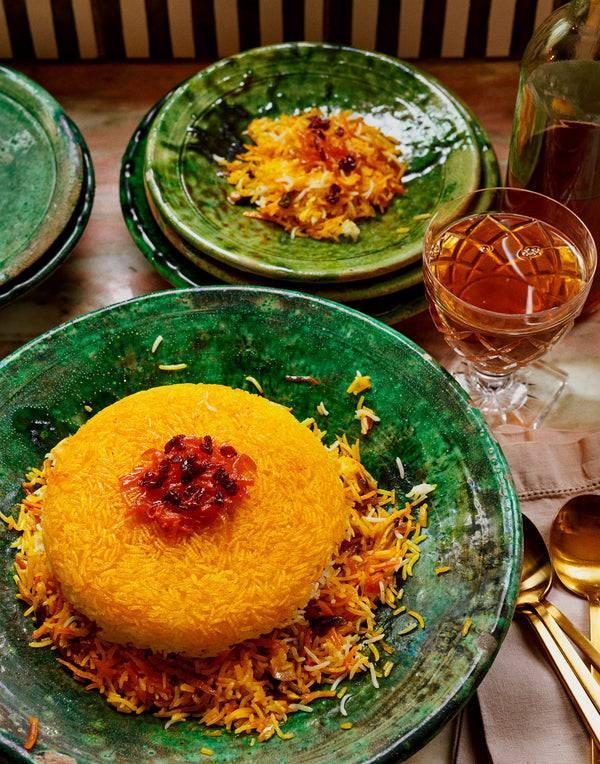 Shirin Polo: Sweet Saffron Rice