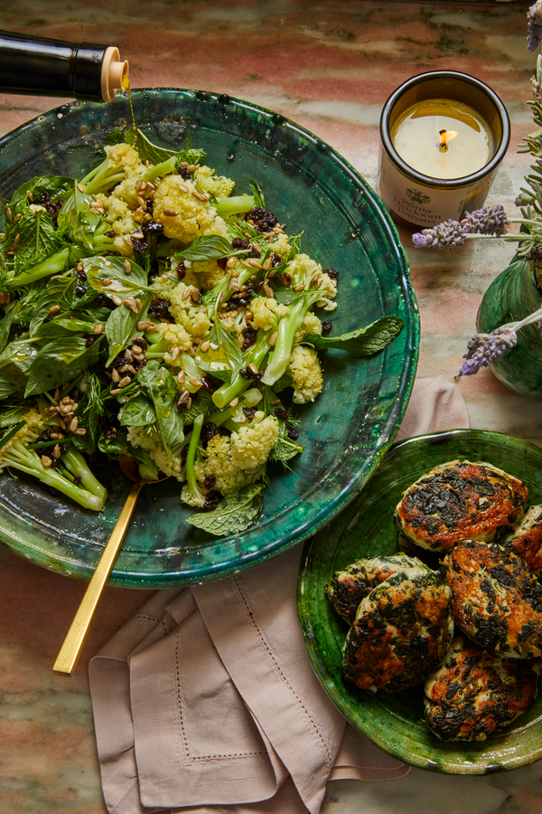 Cauliflower Salad with Turkey Kofta