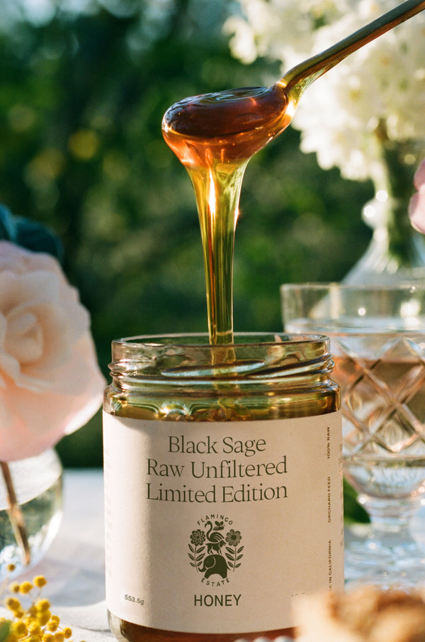 Limited Edition Black Sage Honey - Flamingo Estate