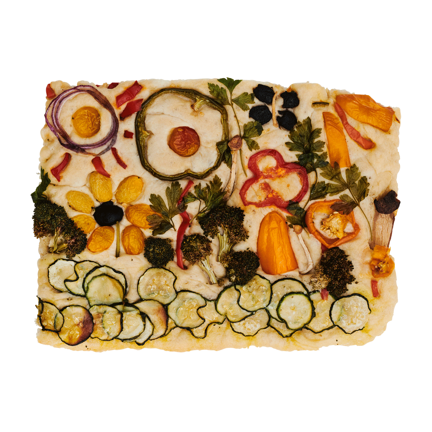 Garden Focaccia Bread - Flamingo Estate