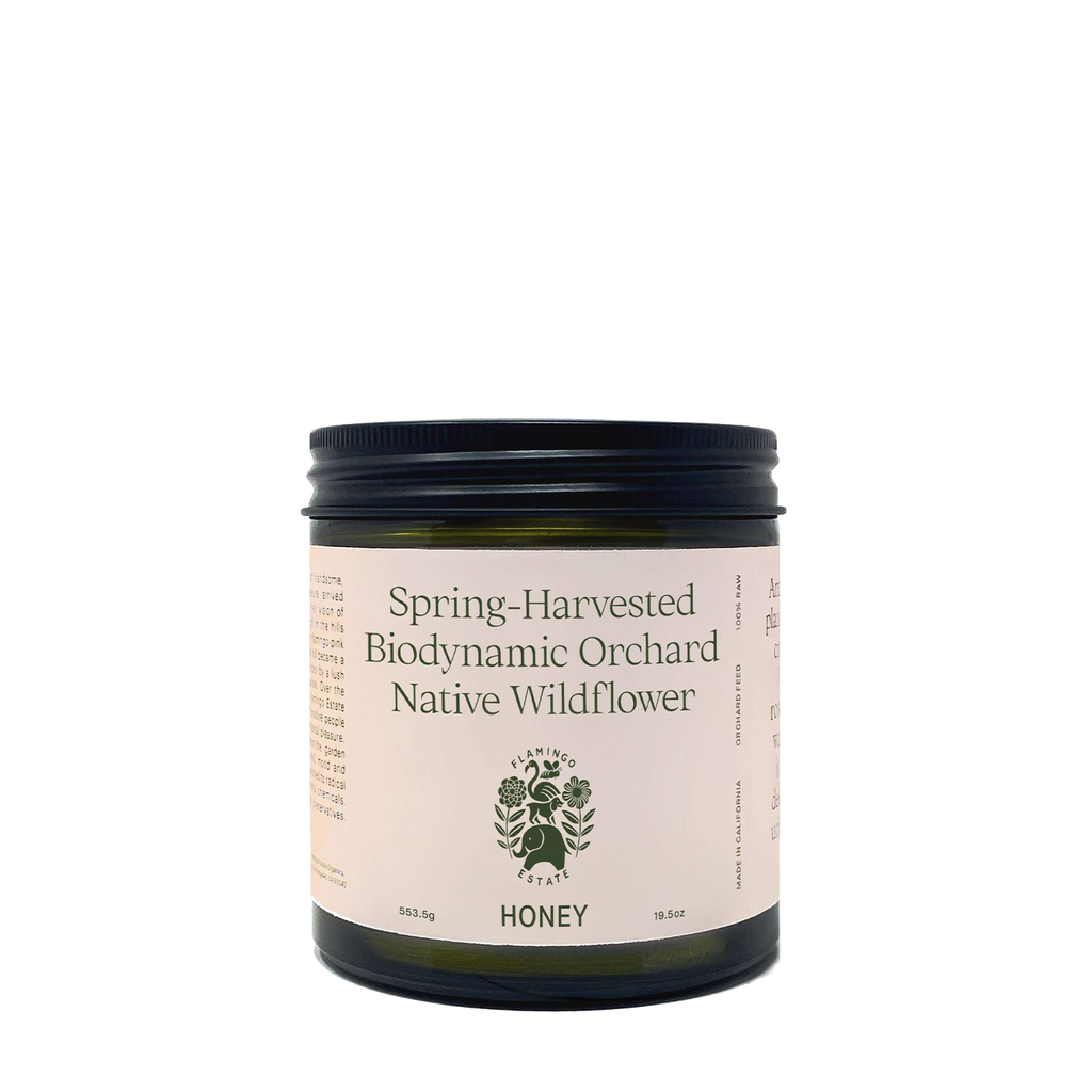 Spring-Harvested Biodynamic Orchard Honey - Flamingo Estate