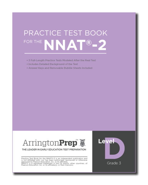 Practice Test Book for the NNAT®-2, Level D