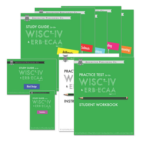 Practice Test & Study Guide Bundle for the WISC®-IV & ERB-ECAA