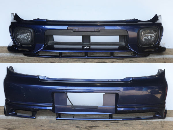 JDM Subaru Impreza WRX STi Front & Rear Bumpers Fog Lights + JDM Cover 2002-2003