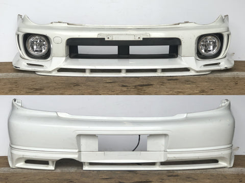 JDM Subaru Impreza WRX STi Front & Rear Bumpers Lips + Fog Lights 2002-2003 WAGON