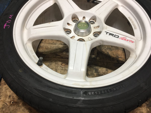 IS300 RAYS TRD 5X114.3 17X7 1/2JJ OFFSET +45 POTENZA S001 BridgeStone tires 215/45r17 91Y