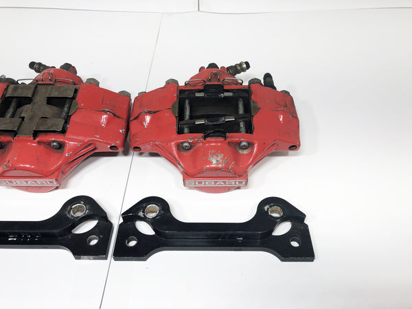 JDM Subaru Impreza WRX Rear 2 Pot Brake Calipers Mounting Bracket 1993-2007 OEM
