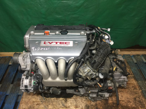 JDM Acura TSX K24A 2.4L i-VTEC VTEC OEM Low Mileage Engine & Automatic Transmission - 1005859