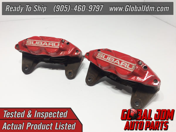 JDM OEM 02-07 Subaru Impreza WRX Front Calipers 4 Pot Genuine