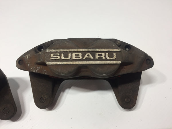 JDM OEM Subaru Impreza WRX OEM Front 4 Piston Brake Calipers Genuine 2002-2007