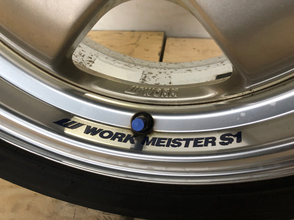 "JDM 16"" Work Meister S1 Wheels Rims 4x100 54.1 16x7JJ 16x8JJ +25 +27"