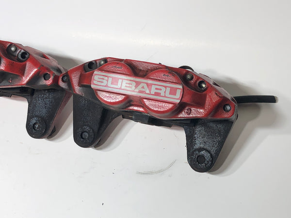 JDM 2002-2014 Subaru Impreza WRX Front Brake Calipers 4 Pot Genuine OEM