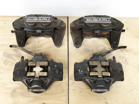 JDM 02-07 Subaru Impreza WRX Front Rear Brake Calipers 4 & 2 Pot Set Genuine OEM