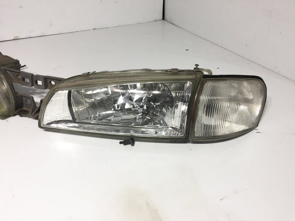 JDM Subaru Impreza GC8 GF8 Front CRYSTAL Headlights Head Lights Lamps WRX