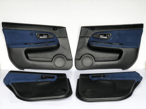 JDM Subaru Impreza WRX STi OEM Front & Rear Door Panels Guards Cards 2002-2007