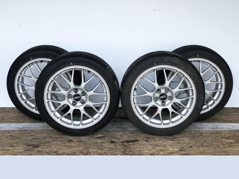Subaru BBS STI Forged Wheel Rims R17 ET+48 5x100 RG345 JDM Rare Set 56.1 Center Bore