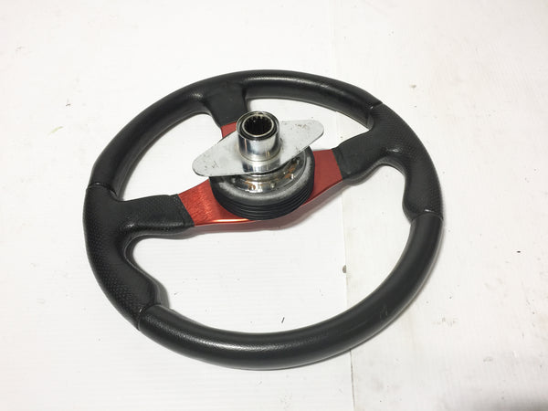 JDM Toyota MR2 MOMO Race TYP D35 Momo Steering Wheel with Quick Release and Steering Console