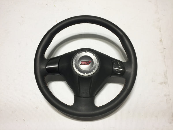 JDM 2013 GVB Subaru Impreza WRX STi Red Stitches With Leather Steering Wheel OEM