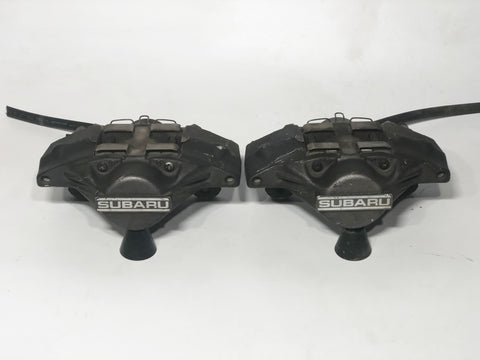 JDM 02-07 Subaru Impreza WRX Rear Brake Calipers 2 Pot 2 Piston Set Genuine OEM