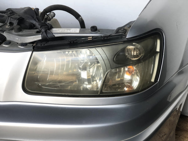 JDM SG5 03-05 Subaru Forester XT STi Front Clip with HID Headlights & Cross Sport Front Carbon Lip Sideskirt with Spats
