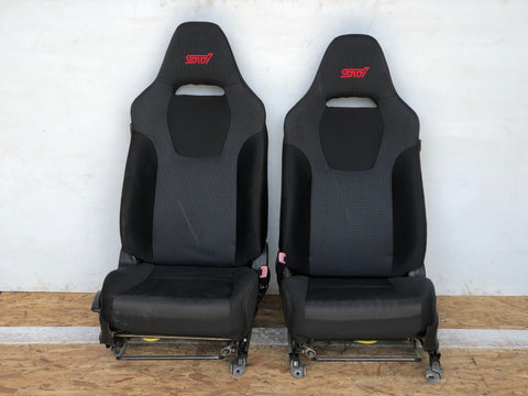 JDM 03-08 Subaru Forester SG9 STi OEM Front Black Seats / Rails Sliders / SG5 | FREE SHIPPING |