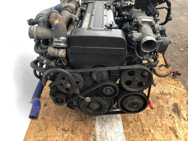 JDM Toyota 1JZ-GTE Engine Twin Turbo R154 5 Speed Trans Supra MK3 Front Sump