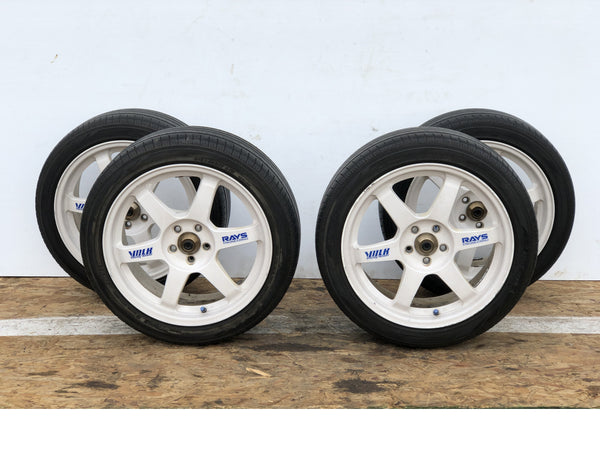 RAYS VOLK TE37 SAGA Forged Wheels White 17x7.5J +48 5x100 215/45 R17