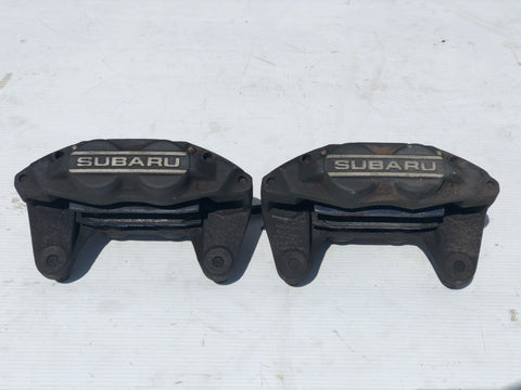 JDM Subaru Impreza WRX 2002-2014 Front Brake Calipers 4 Pot Genuine OEM Imported