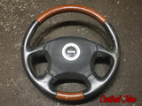 JDM OEM 03 BP9 Subaru Legacy Outback Momo Wood and Leather Steering Wheel Genuine