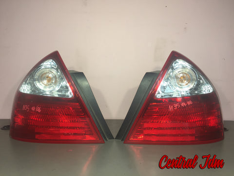 2004 09 JDM NISSAN FUGA Y50 INFINITI M45 M35 2PIECE TAIL LIGHT SET RARE OEM