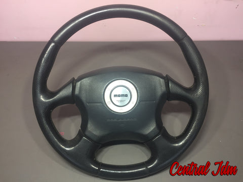 JDM 02-03 Subaru Impreza WRX STi V7 OEM Momo Leather Steering Wheel GD GDA GDB
