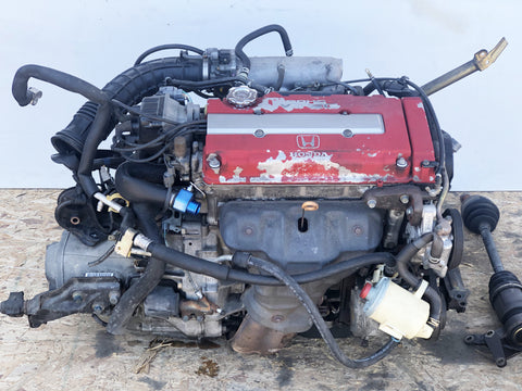 JDM 1997 Honda Integra Type R B18C 1.8L VTEC Engine 5 Speed LSD S80 Manual Transmission