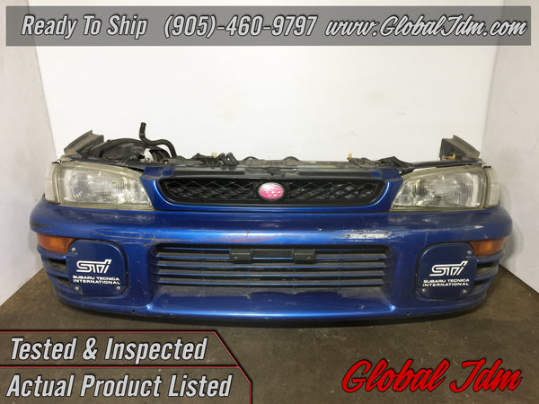 JDM SUBARU GC8 STI FRONT CUT HEADLIGHTS BUMPER FOG LIGHT COVERS VER 5 6 IMPREZA RS