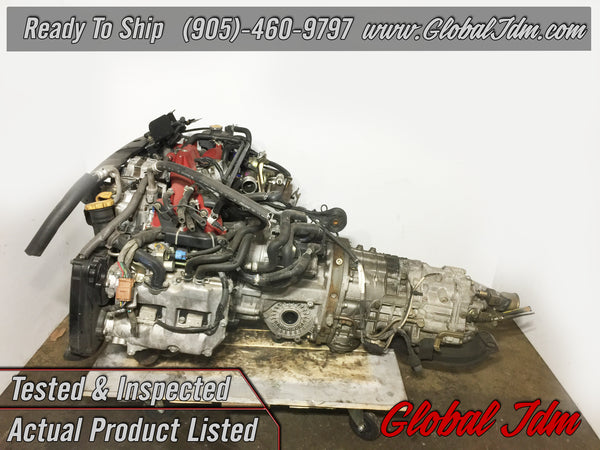 JDM Subaru Forester EJ25 STi Engine 6 Speed Transmission SG9 EJ255 TY856WL4CC