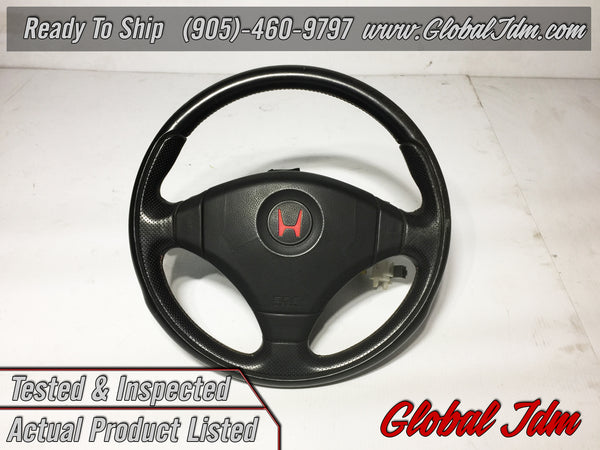 98-01 JDM Honda Acura Integra Type R OEM MOMO Steering Wheel Civic EG6 DC2 ITR