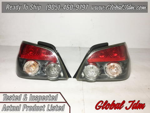 JDM SUBARU IMPREZA WRX STi SEDAN GDA V9 TAIL LAMP REAR LIGHTS KOUKI SET L+R OEM