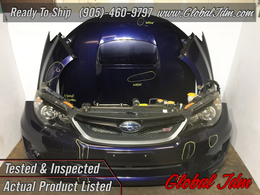 jdm subaru impreza wrx sti version 10 2008 2014 front end conversion